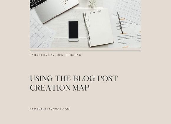 Blog Post Creation Map