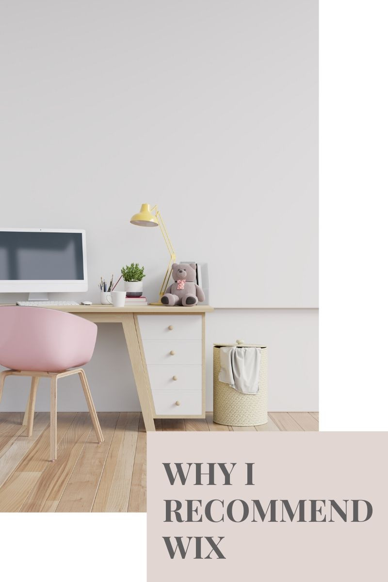 A pink desk chair in front of a desk with a computer and teddy bear on it.