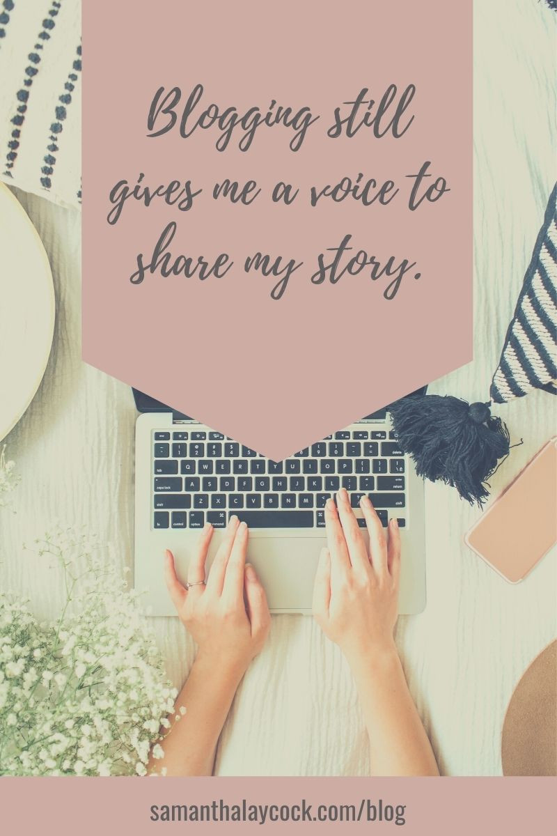 When blogging helps to make sense of my story.