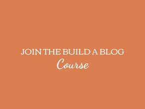 Join the Build A Blog Course