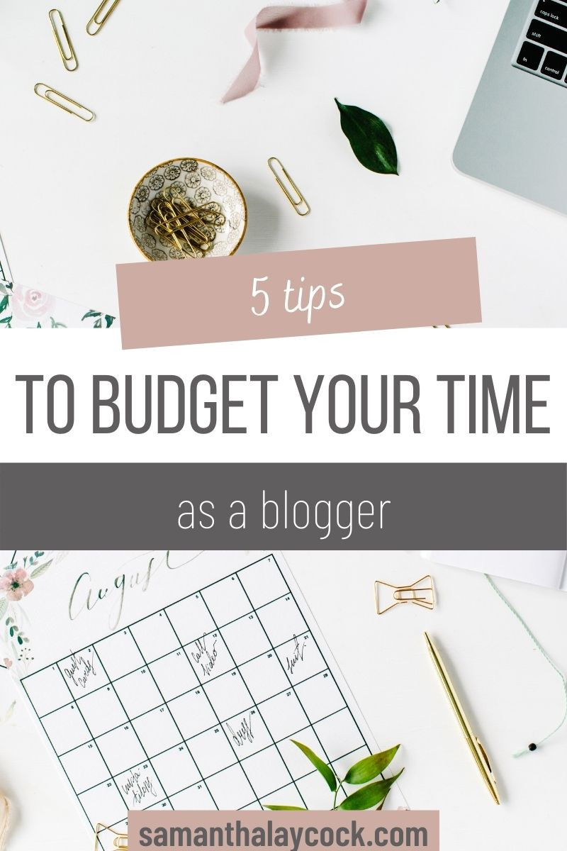 Use these 5 tips to help you use your time intentionally as a blogger.