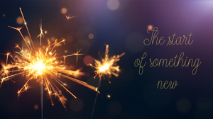 A sparkler glowing with words.