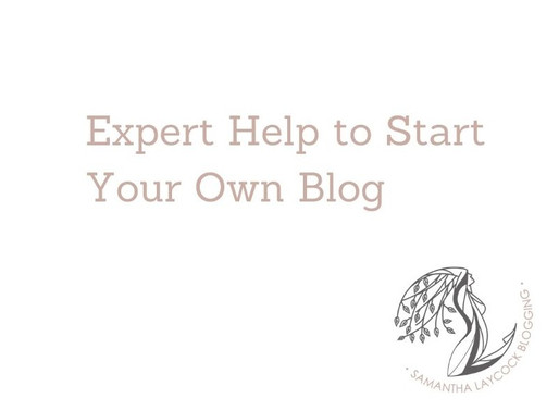 Expert Help to Start Your Own Blog