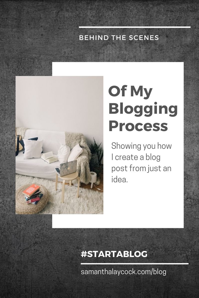 How to write a blog post from start to finish.