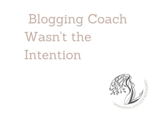 Blogging Coach Wasn't the Intention