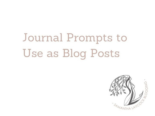 Journal Prompts to Use as Blog Posts