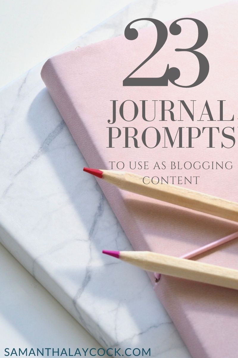 Turning your journal content into blog content.