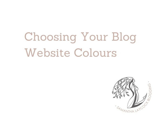 Choosing Your Blog Website Colours