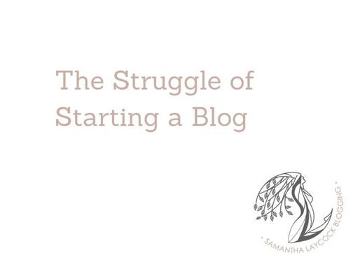 The Struggle of Starting a Blog