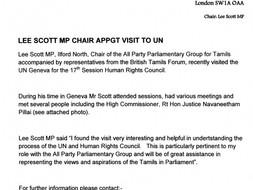 LEE SCOTT MP CHAIR APPGT VISIT TO UN