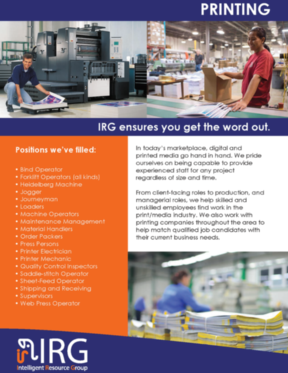 IRG Service Catalog Light Industrial0107