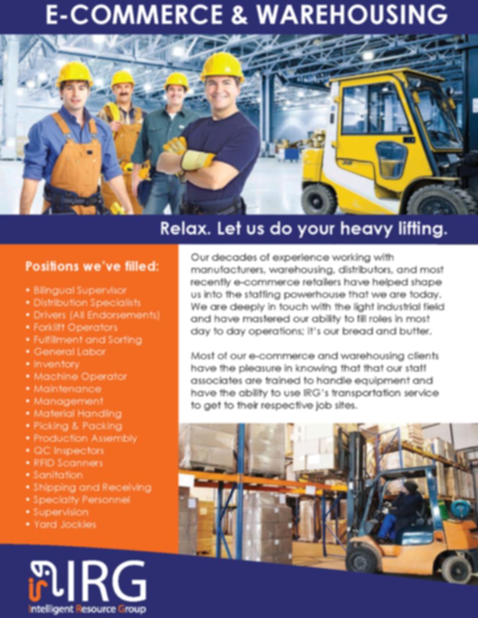IRG Service Catalog Light Industrial0107