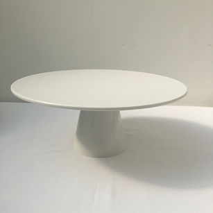 simple white cake stand to hire