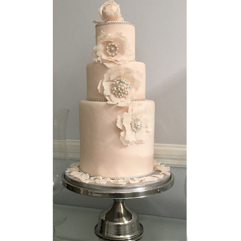 Simple Silver Cake Stand to hire