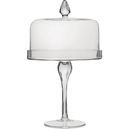 Large & Tall glass cake stand
