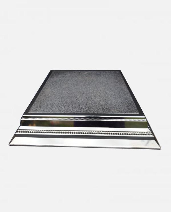 14 square silver cake stand
