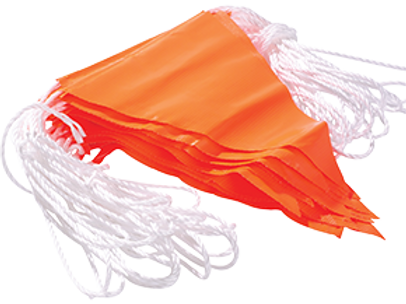 Bunting Orange Safety Flags 30m