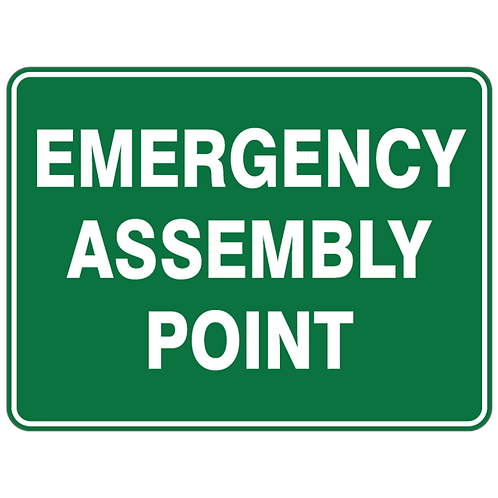 Emergency Assembly Sign