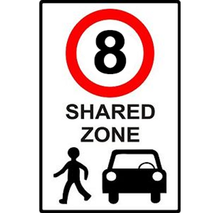Shared Zone Speed Limit Sign