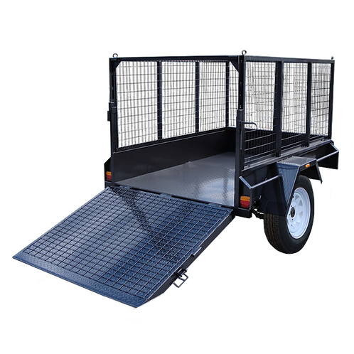 Cage Trailer w/ Ramp 8x5ft