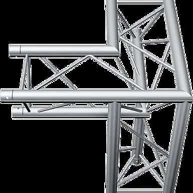 Aluminium Tri-Truss 290mm 3-Way Corner Connector