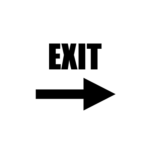 Exit Arrow Sign