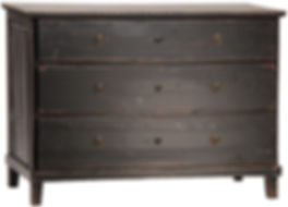 dov1047bk, soren, black, elm, wood, dresser, simple, three drawer, medium, black, brown, old looking, Ojai, furniture, furnishings, home, design, decor, interiors