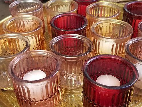 Round Glass Votive, 3x3