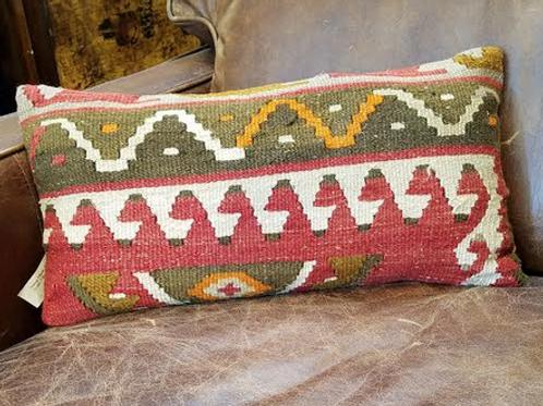 Hemp Pillow with Kilim Design