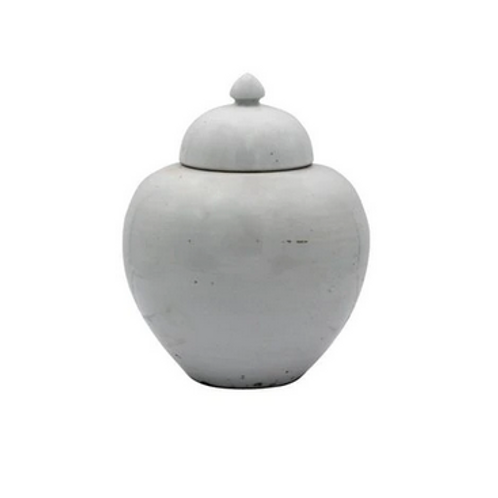 Vintage White Porcelain Ginger Jar
