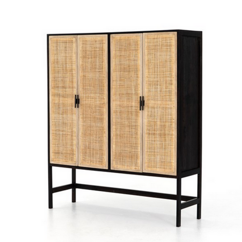 Mango Cabinet with Cane Doors