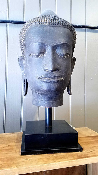 cast, bronze, buddha, head, Ayutthaya, thailand, meditation, antique, 20190423_125020.jpg