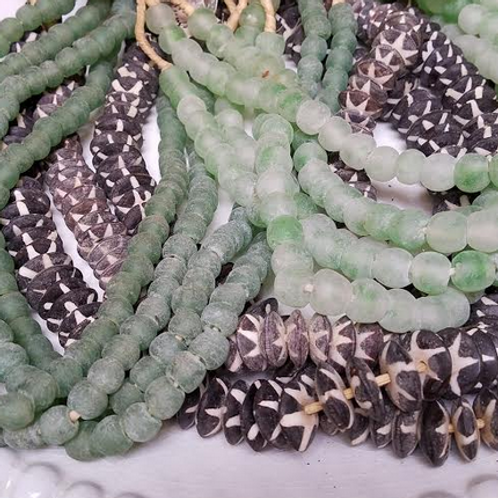 Green Jade Beads from Mali