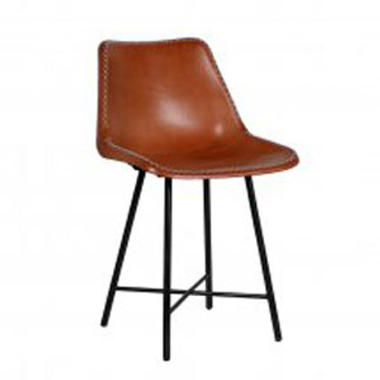 Iron and Leather Dining Chair