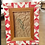 "Thumbnail: Red and White Quilt Block Picture Frame, 4"" x 6"""