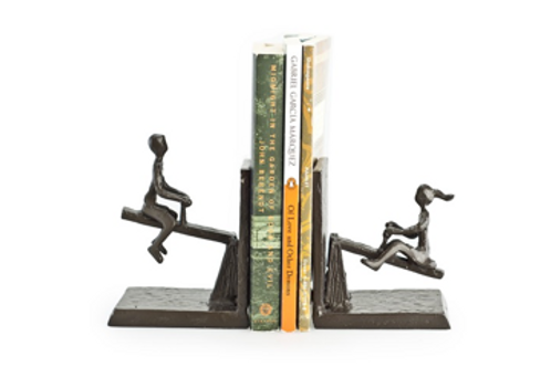 Cast Iron See-Saw Bookends