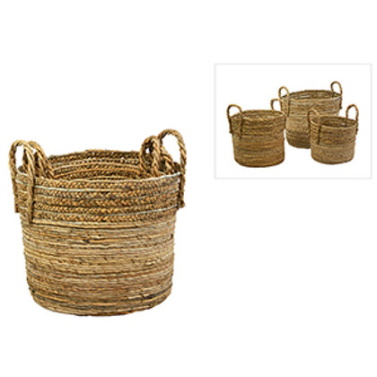 Handwoven Two Handle Basket