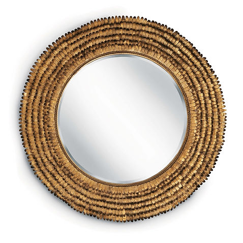 down, home, furnishings, ojai, ca, california, ventura, county, metal, steel, round, mirror, gold, flower, RAPetalSM.jpg