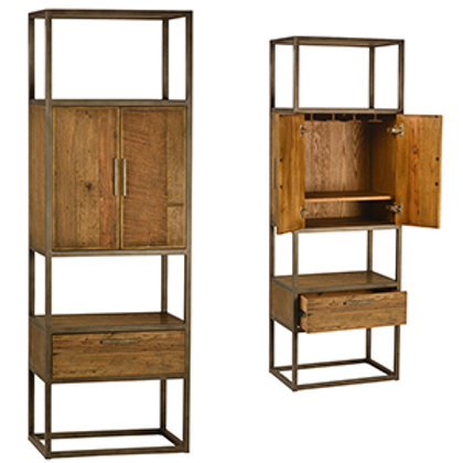 Reclaimed Elm and Oak Bookcase