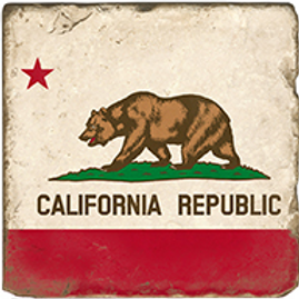 Marble Coaster - California Flag