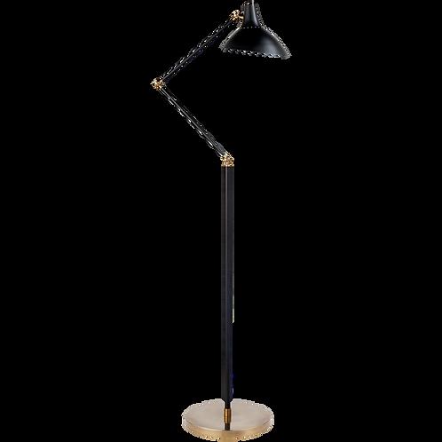 Black & Brass Adjustable Floor Lamp