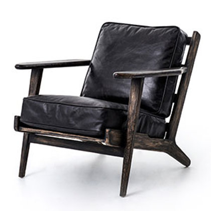 Lounge Chair in Distressed Top Grain Leather