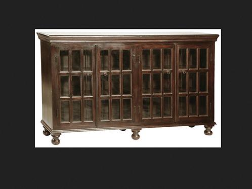 """Shesham Wood and Glass Sideboard, 72"""" x 17"""" x 44"""""""