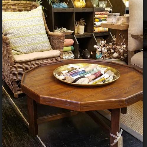"Octagonal Coffee Table, 38"" diameter x 18"" tall"