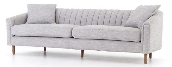 CKEN-135A3-099, even, 4h, modern, tightback, sofa, grey, light, neutral, tapered, egs, two cushion, interior, design, designer, Ojai, California