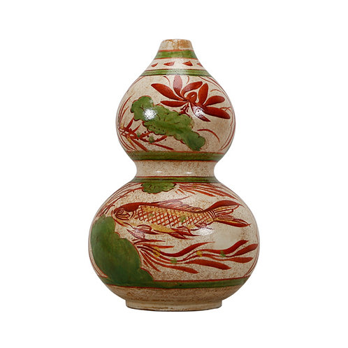Hand Painted Double Gourd Vase