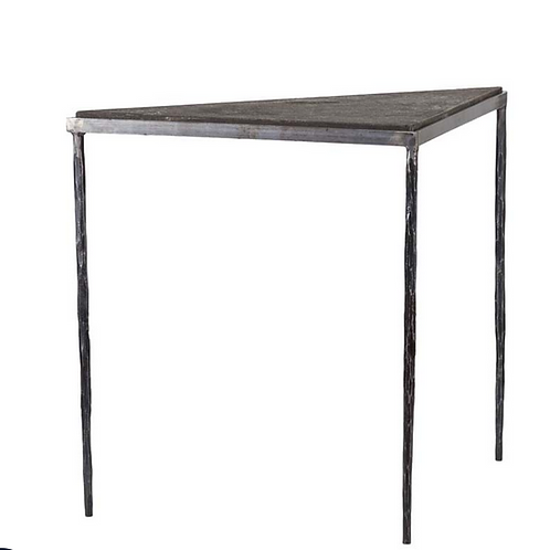 Bluestone and Iron Triangle Side Table