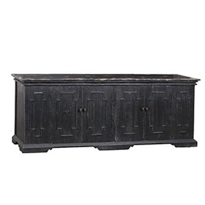 Black Distressed Pine Sideboard