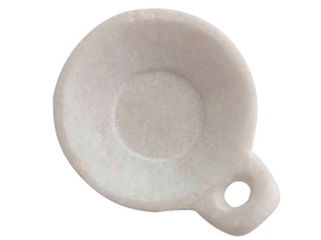 Carved Marble Dish with Handle