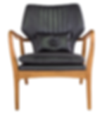 FJ024, BO, mid century, modern, traditional, contemporary, eclectic, leather, club, arm, chair, small, round, rounded, nailheads, tacks, detail, turned, occasional, seat, seating, home, house, furnishings, living, room, bedroom, tight back, design, designer, interior, decor, decorator, furniture, Ojai, California, Ventura, county